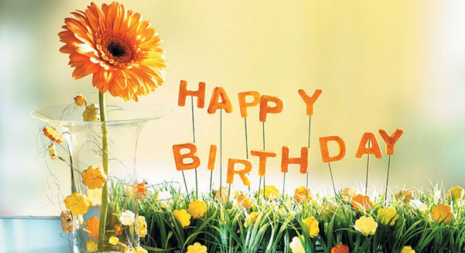 Birthday Wishes With Flowers And Cake Images